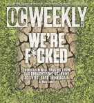 OC Weekly 11/13/14 cover in support of Matt Coker's 'An Inconvenient Thirst'