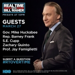 Jay Famiglietti on Real Time with Bill Maher. Episode 348. March 27, 2015
