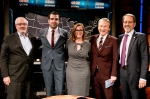 Barney Frank, Zachary Quinto, S.E. Cupp, Bill Maher and Jay Famiglietti on Real Time with Bill Maher, Episode 348, March 27, 2015. Photo by HBO/Janet Van Ham