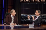Bill Maher and Jay Famiglietti on Real Time with Bill Maher, Episode 348, March 27, 2015. Photo by HBO/Janet Van Ham
